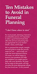 Ten mistakes to avoid in funeral planning
